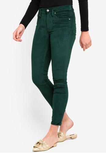 J.Crew green 9 Inch Toothpick Velvet Jeans 57693AA24FD4F4GS_1