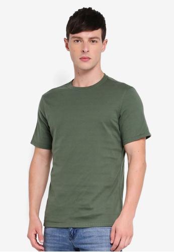 Guess 綠色 Guess Cotton Short Sleeve Plain Tee DB661AA6BED4D5GS_1
