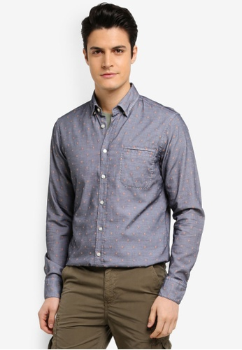 BOSS blue and navy Classy Shirt 98C62AA4526F66GS_1