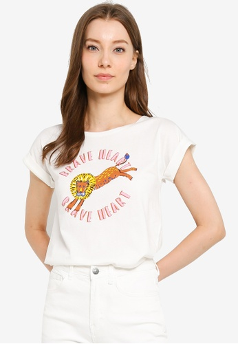 Compania Fantastica white Brave Heart T-Shirt 6E30CAA04F9F13GS_1