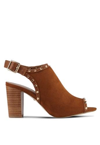 Carvela KG brown Metallic Studded Heels 316DCSH7443806GS_1