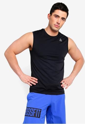 Reebok black Training Core Workout Ready ACTIVCHILL Sleeveless Top 18F53AAC820A3FGS_1