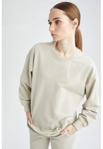 DeFacto grey Long Sleeve Sweat Tunic 5C5C4AA1783006GS_1