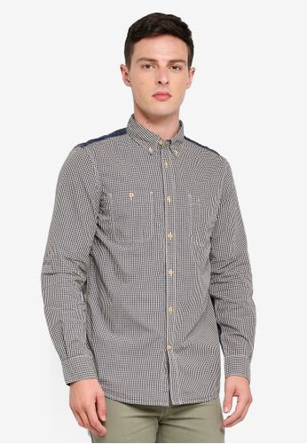 7e083ca5ba0 Shop French Connection City Patchwork Shirt Online on ZALORA Philippines