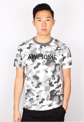 Moley white AWESOME Modern Camo T-Shirt 02714AAAB53DBBGS_1