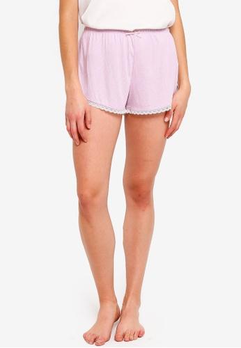 Cotton On Body purple Rib Lace Shorts 3C28AAA6CFDFB6GS_1