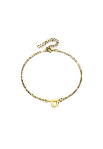 Bullion Gold gold BULLION GOLD Bold Alphabet Letter Initial Charm Bracelet in Gold Tone - P F1454AC3E90BF2GS_1