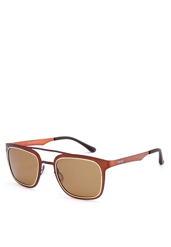 Privé Revaux brown The Assassin Sunglasses PR660GL0RC39MY_1