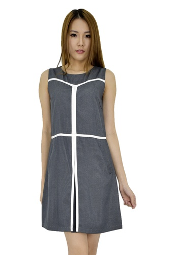 MOONRIVER grey Elly Essential Classic Fit And Flare Dress MO886AA0F6I9SG_1