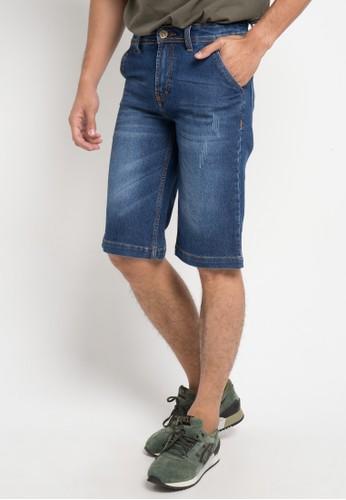 BRONCO blue Denim Shorts 13382AAEFAD144GS_1