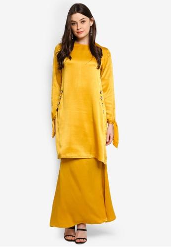 Isabel Modern Kurung from UMMA in Yellow