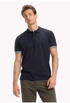f41520afb Tommy Hilfiger navy HEATHER BADGE REGULAR POLO C3A6EAAD1826A4GS 1
