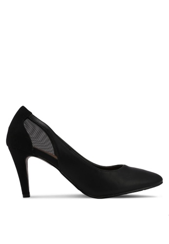 DMK black Back Mesh Pump Heels 4255ASHFCF3CD1GS_1