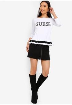 3eb5e5e7c6cb2 Guess Guess Logo Peplum Sweater Top RM 479.00. Sizes S M L