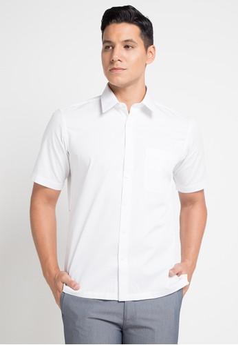 GQ MEN'S WEAR white Casual Short Sleeve Shirt 54B41AA24CB121GS_1