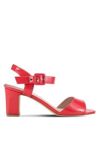 繞踝露趾粗跟鞋, esprit 香港女鞋, 鞋