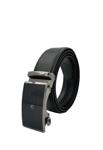 "Men/'s belt 34/"" Leather Dress//Casual Belt New Auto lock Buckle Track line belt"