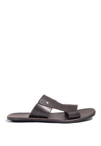 Dr. Kevin brown Dr. Kevin Mens Leather Sandal 97187 - Brown DR982SH0US9HID_1