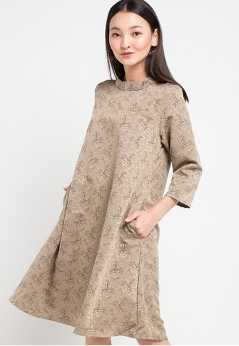 SIMPLICITY multi Vhinky Neck-Rib Dress 9B0C0AAFCDE67BGS_1