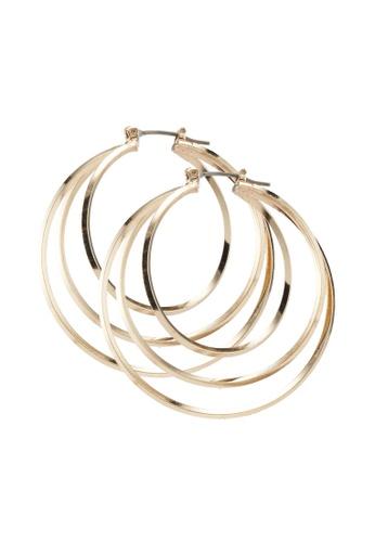 ALDO 金色 圓圈耳環 0FBD2ACA981EAFGS_1