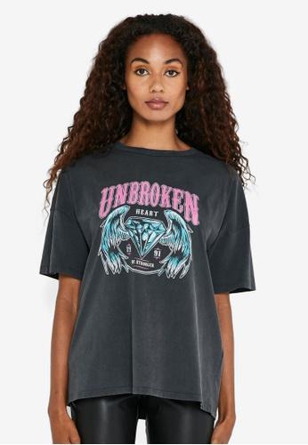 Noisy May black Ida Short Sleeves Unbroken T-Shirt 1F420AA416195CGS_1