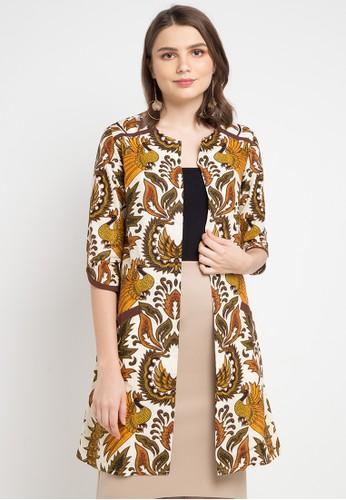 Rianty Batik multi and brown Cardigan Eshal DB7ADAA95B1D7DGS_1