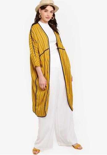 Zalia yellow Contrast Binding Cardigan B88B2AA453005CGS_1