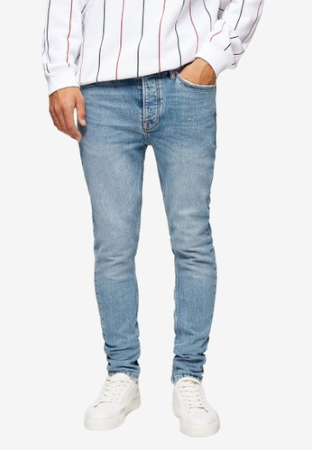 Topman blue Considered Light Wash Skinny Jeans E1FE7AAA7DCCC6GS_1