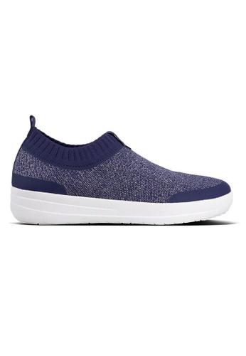 Fitflop blue Fitflop Uberknit Slip-On Sneakers - Metallic Weave (Indian Blue Metallic) 05AB4SHA6FEB32GS_1