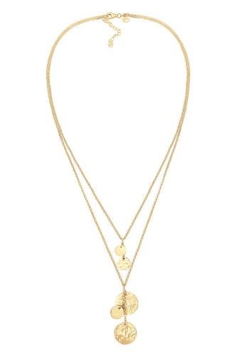 Shop Elli Germany Layer Look Geo Platelet Multi Pendant Necklace