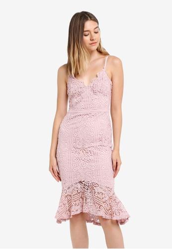 Lipsy pink Pink Scallop Lace Flute Hem Cami Dress D6EEDAAEC26392GS_1