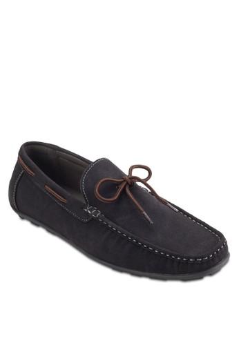 蝴蝶結繫帶仿麂皮樂福鞋, 鞋, zalora 包包評價懶人鞋
