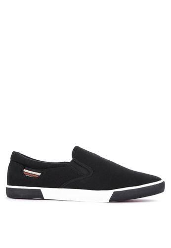 H2Ocean black Chevalier Slip on Sneakers 75BD4SHC077068GS_1