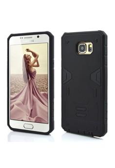 Armor Hybrid Anti Shock Heavy Duty Case for Samsung Galaxy Note 5- Black