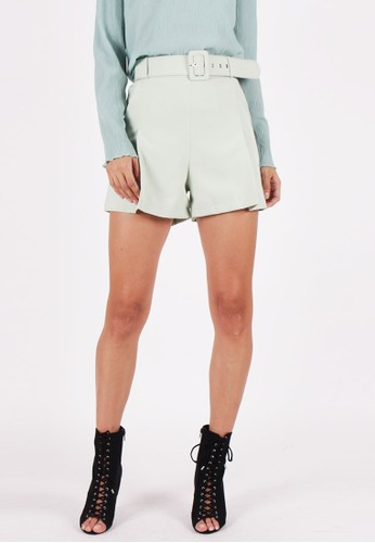 MAGNOLIA green Shortpants With Belt 6BAECAA4BD00E9GS_1