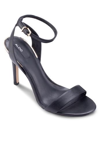 Lovarema 一字esprit門市帶繞踝高跟鞋, 女鞋, 鞋