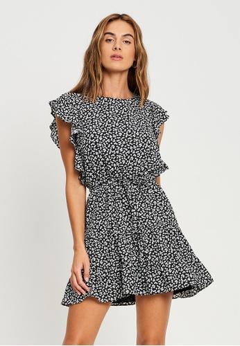 Tussah black Ivana Mini Dress 67781AA2CA43D4GS_1