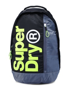 02cf8d20e4ccbd Superdry black and grey Academy Freshman Backpack 21AA9ACF15F115GS_1