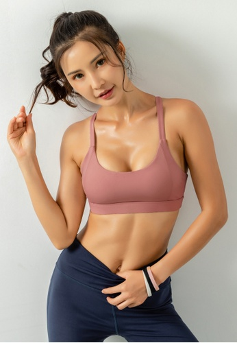 HAPPY FRIDAYS Women's Medium Support Sports Bra DK-WX14 049A9AA299AF0AGS_1