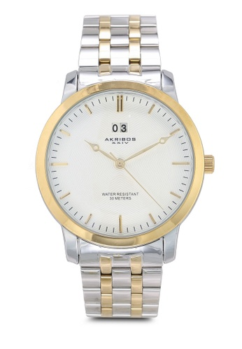 Akribos XXIV silver and gold Two Tone Watch 0CF9DACFD77AD8GS_1