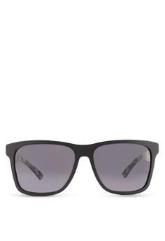 8e699a443c Boss Orange black Modern Squared Rubber Sunglasses BO434GL85HRYMY 1