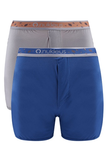 Nukleus grey and blue Seed of Greatness Men Boxers AB5F9USA0A4875GS_1