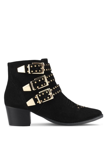 Miss KG black Tiger Ankle Boots MI302SH0SCL4MY_1