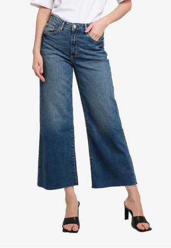 H&M blue Wide High Ankle Jeans 4D970AA88CE7CAGS_1