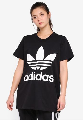 adidas black adidas originals big trefoil tee 7CCF2AAD5CA34CGS_1