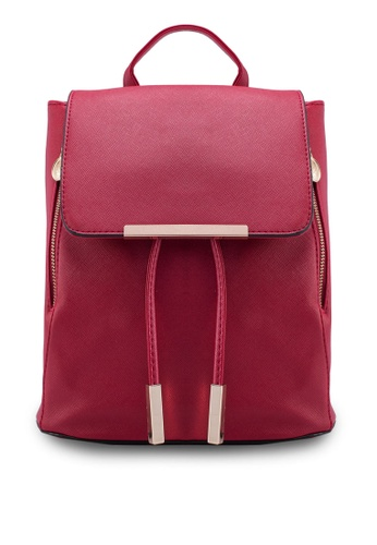 Bagstationz red Bagstationz Saffiano Backpack BA607AC00KIPMY_1