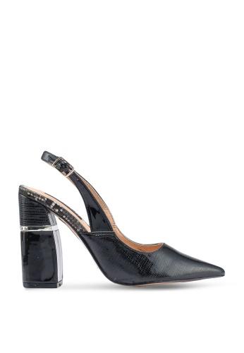 River Island 黑色 漆皮粗跟高跟鞋 C7AC2SH049B6BBGS_1