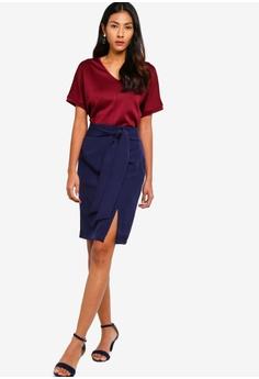 e1935a64cd4fdf ZALORA BASICS Basic Tailored Self Tie Skirt S$ 24.90. Sizes XS S M L XL