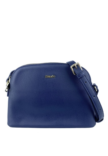 Mel&Co navy Dome Faux Leather Sling Bag 1EAEAAC82EEDE9GS_1