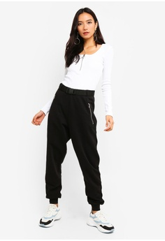 d0cbfe25319 25% OFF MISSGUIDED Black Seatbelt Joggers S  52.90 NOW S  39.90 Sizes 6 8  10 12 14